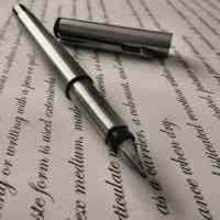 pen left sitting on document