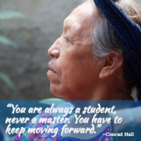 """""""You are always a student, never a master. You have to keep moving forward."""" ~Conrad Hall"""