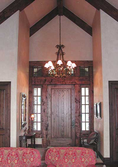 wood entryway