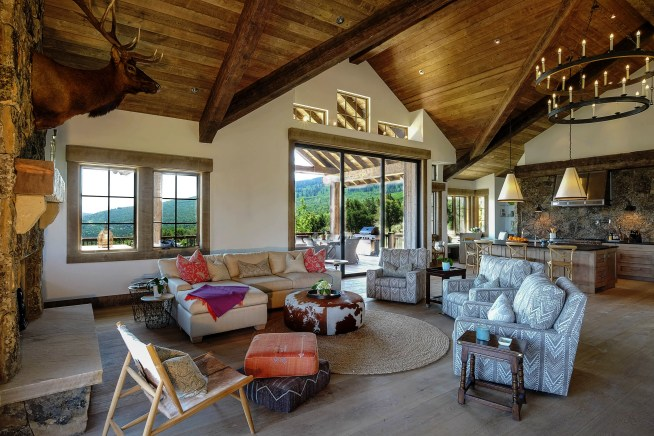 Interior photo of living room architecture and design at Red Sky Ranch