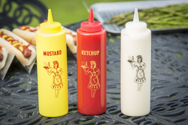 mustard ketcup mayo squeeze bottles