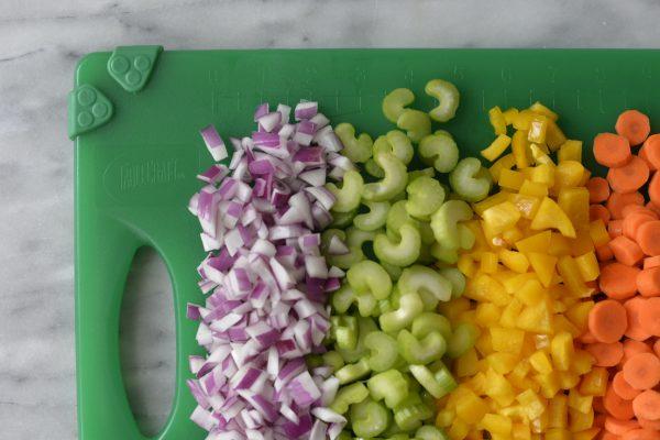 veggiest chopped on a board