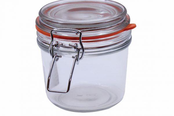 resealable glass jar
