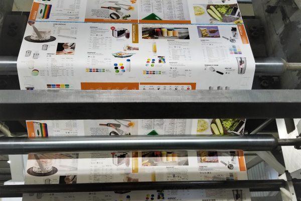 retail catalog at the press
