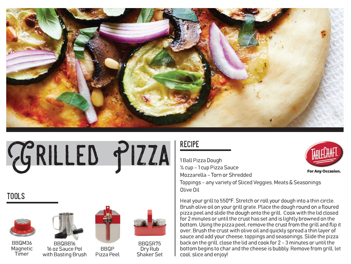 Grilled Pizza Recipe cover