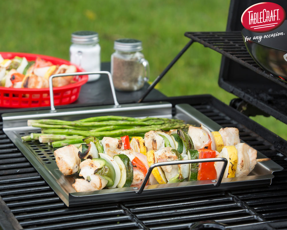 Dual Surface Grilling Tray with Handles BQQ2013 TableCraft Home