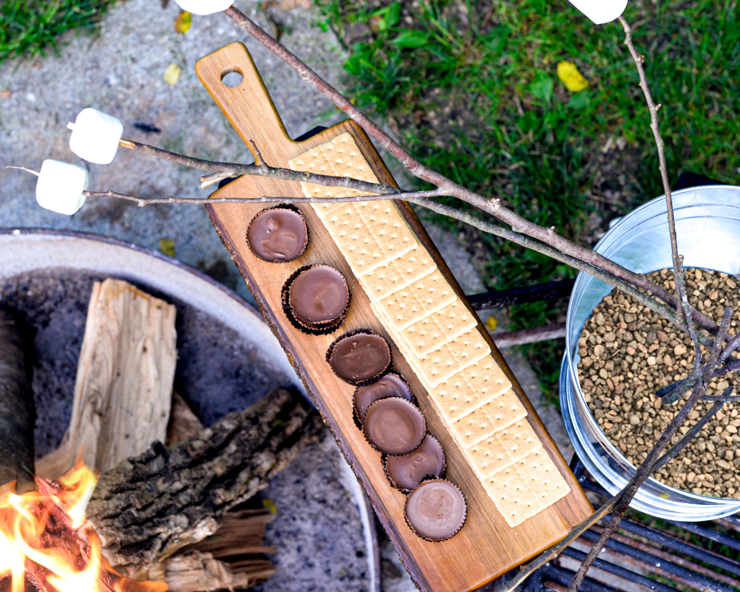 Smores by the campfire with TableCraft