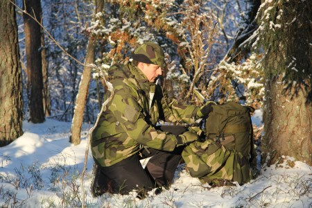 Rucksack Cover M90 during winter