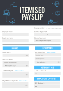 Talenox Itemised Payslip