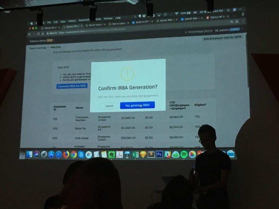IR8A form generation on the Talenox Payroll app