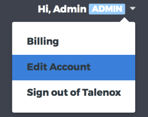 edit account feature in Talenox