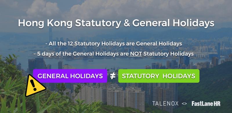 Hong Kong Statutory and general holidays Conditions