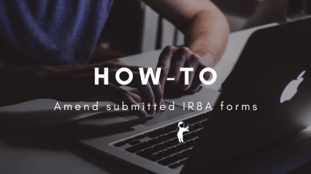 how to amend submitted IR8A forms