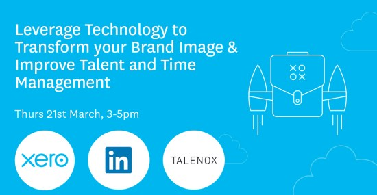 Talenox event banner for seminar with xero and linkedin