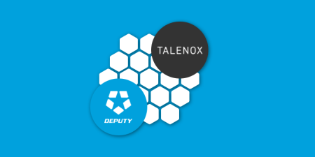 graphic banner with talenox and deputy logos