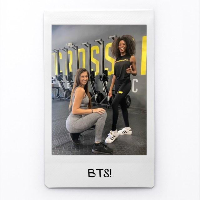 Lovely Lola and Nasstasja on set for Girls Who Lift Fitness!