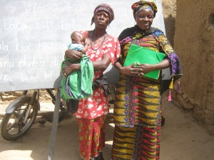 Kadidia (right) with a fellow student