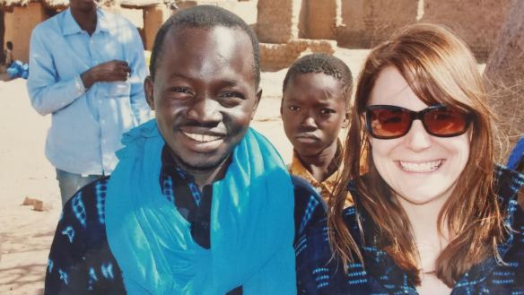 Kelly shares a smile with a Tandana staff member in Mali