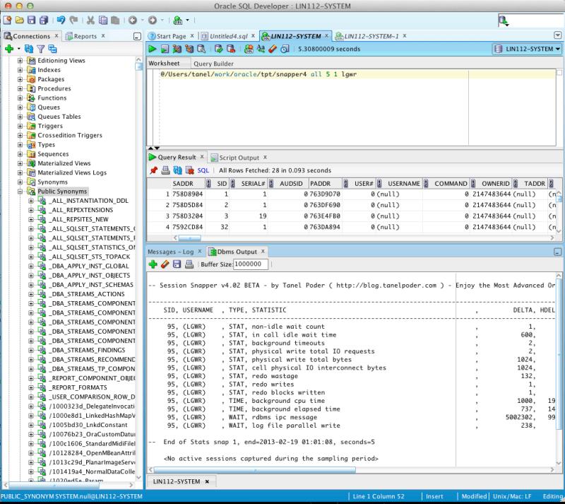 Snapper 4 inside SQL Developer