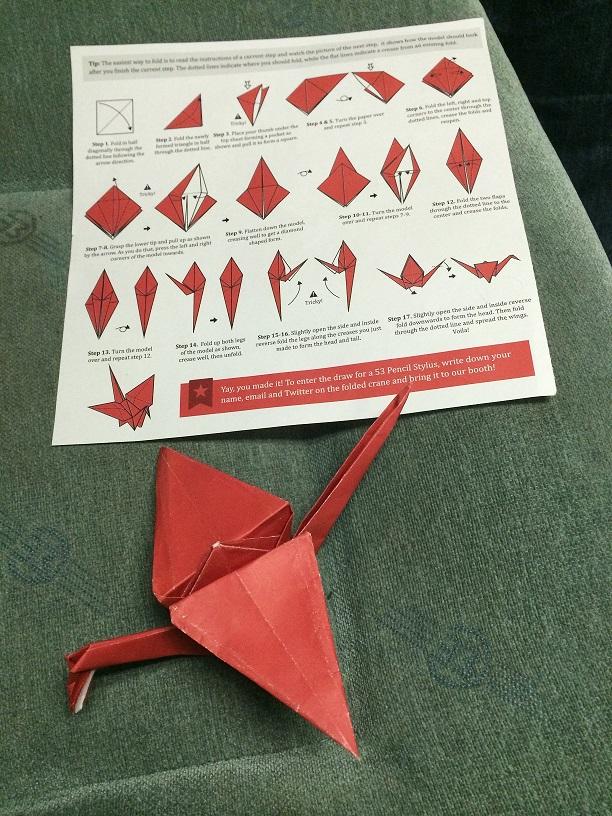 Selanik treninde tanıştığımız Yunan arkadaşlar ile birlikte yaptığımız origami turna kuşu. Origami üzerine sohbet edeceğim aklıma gelmezdi :)