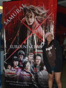 Obligatory photo with Rurouni Kenshin poster