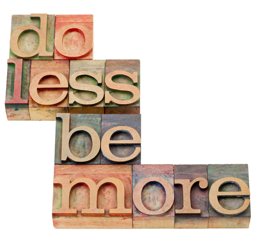Do Less Be More Productivity