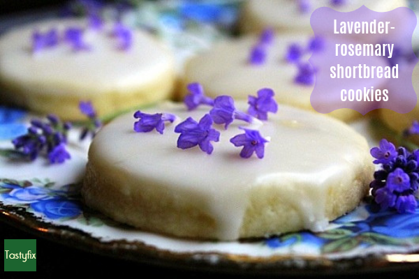 Lavender-rosemary shortbread cookies