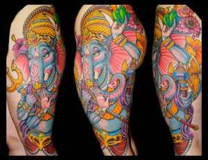 Champion Grubbs Tattoo Leg Piece