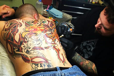Tattoo Artist Sierra Colt at Work