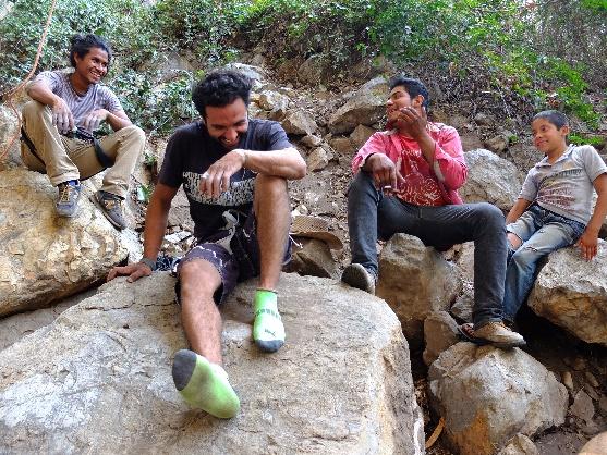 Escaladores de la zona de la Cueva del Chonta  Foto: Margarita Cardoso