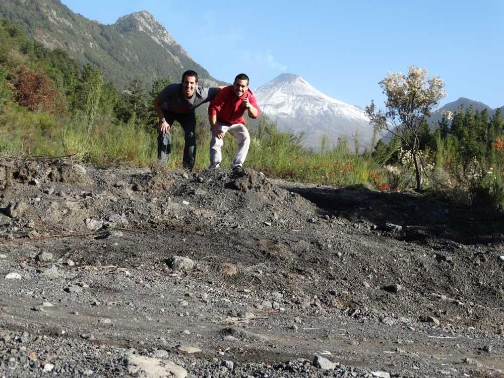En ruta a escalar nos encontramos con este paisaje.