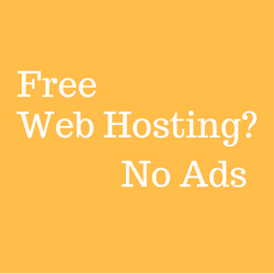 Free web hosting no ads