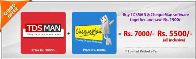 Special Combo Offer on TDSMAN and ChequeMan Software