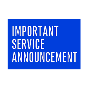 Service outage update