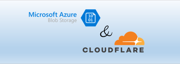 Logos of Microsoft Azure Blob Storage and Cloudflare