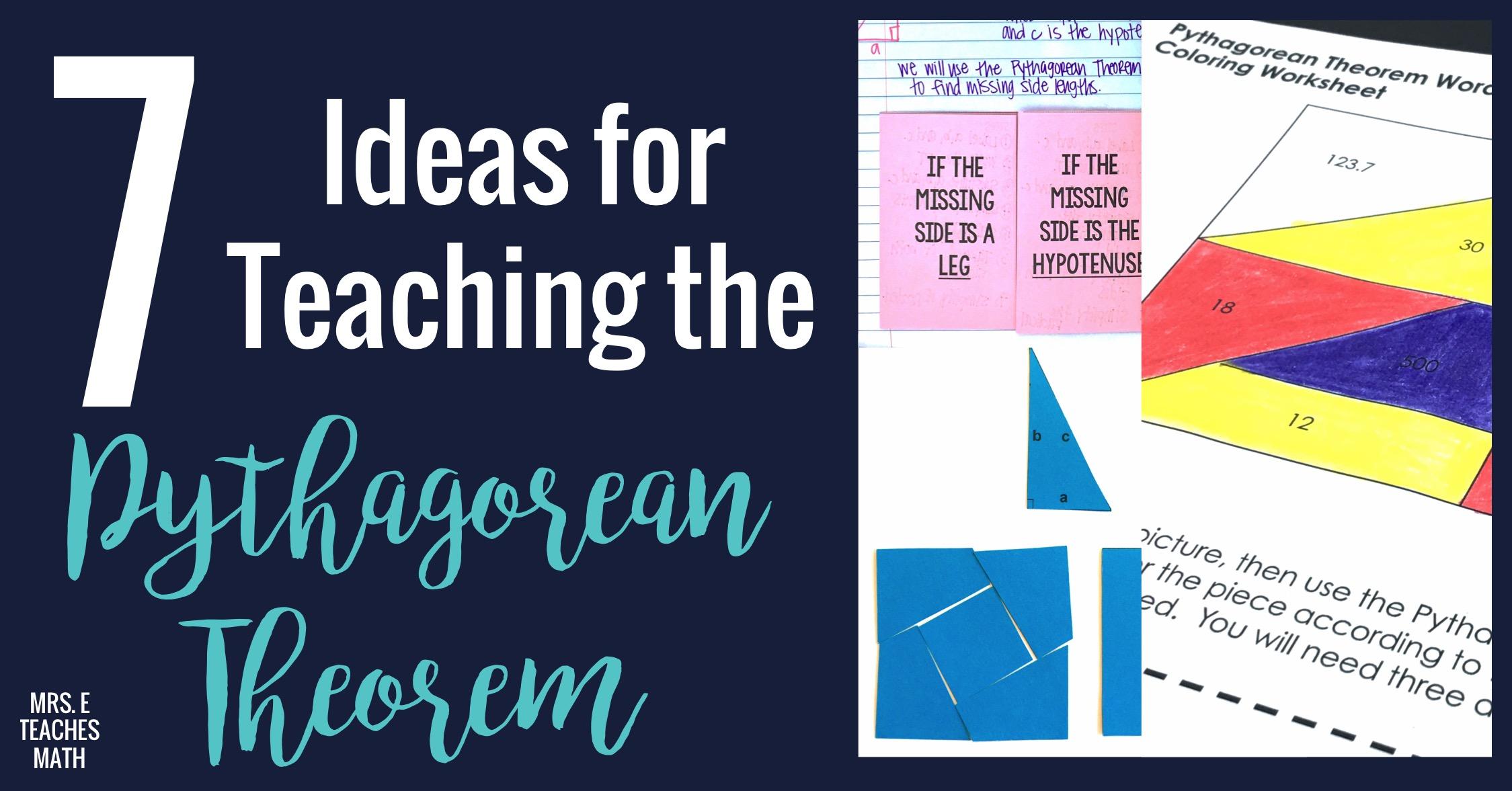 7 Ideas For Teaching Pythagorean Theorem