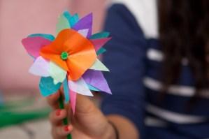 Complete tissue paper flower