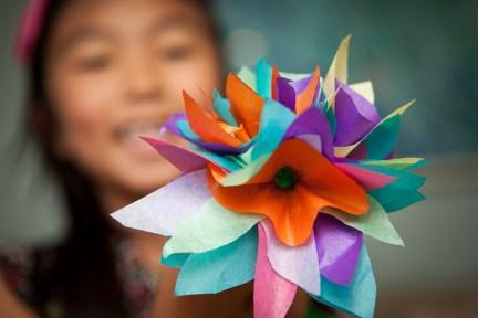 DIY tissue paper flowers