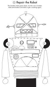 activity printout of a robot