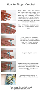 How to finger crochet