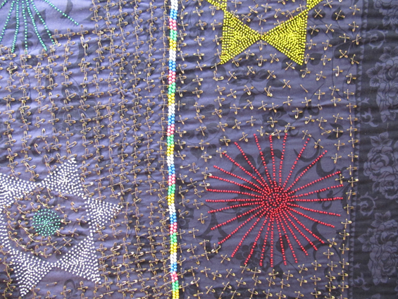 Close-up of Nceka cloth.