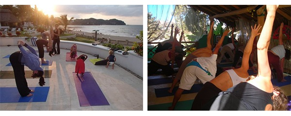 Yoga in Sayulita, Mexico via Tea Collection's Studio T