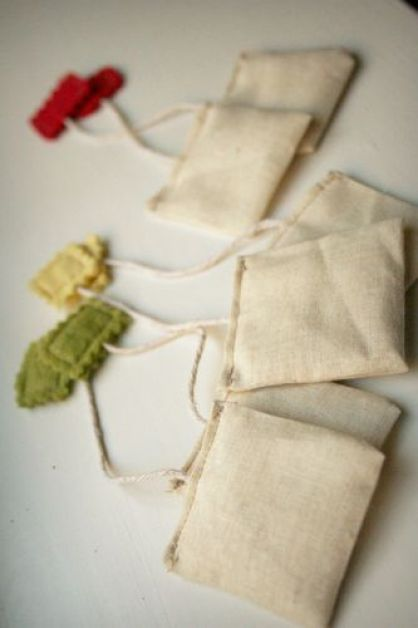Cloth Tea Bags Photo Courtesy of A Happy Nest.