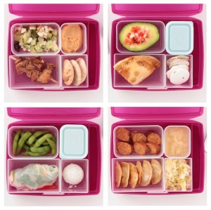 packed lunches inspired by 5 different countries with recipes
