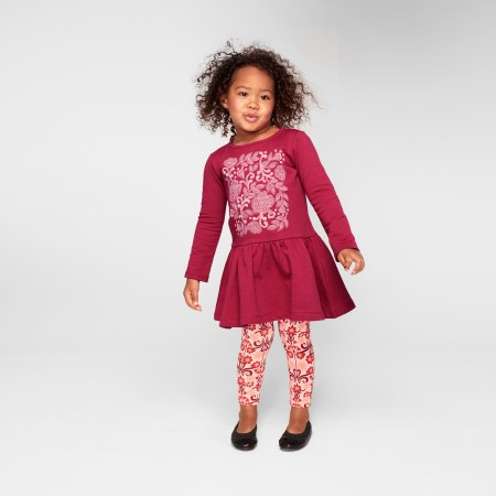 Feather & Fan Embroidered Girls Lace Dress