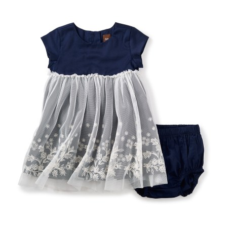 Ottie Embroidered Tulle Baby Dress