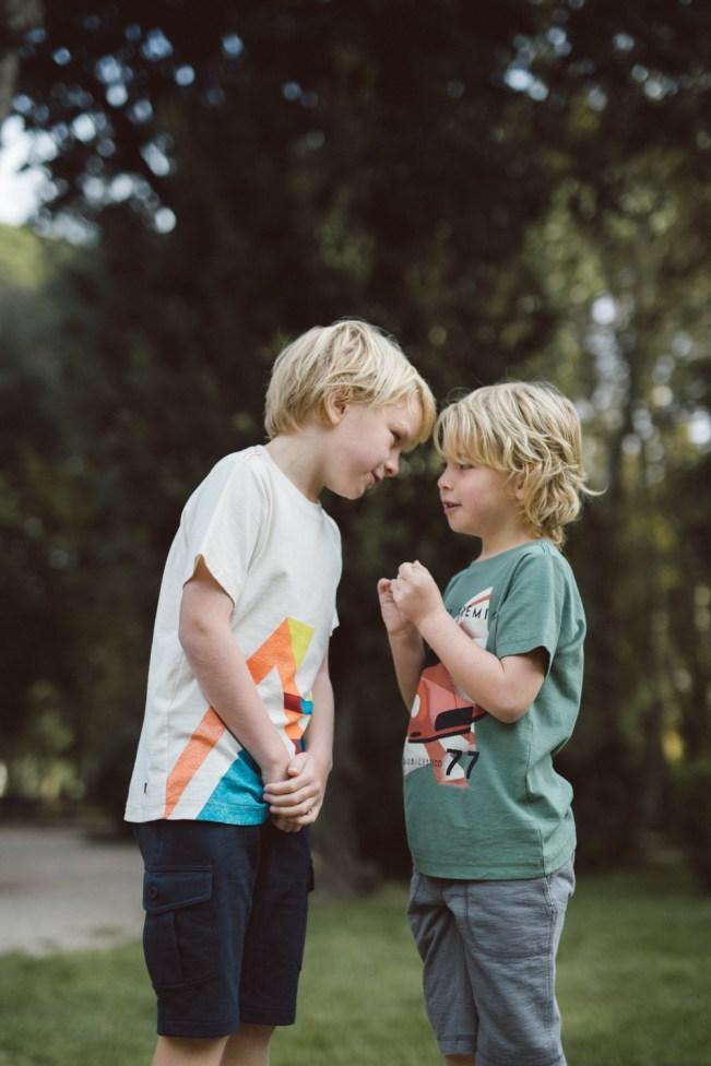 Matthew and Adam sharing stories