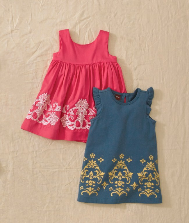 Pantheon Embroidered Baby Dress and Golden Child Baby Dress
