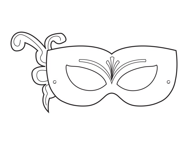 Venetian Mask Template