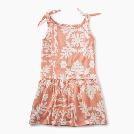 Hawaiian Tie Shoulder Dress